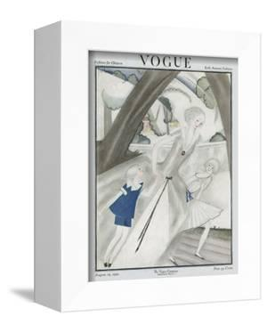 Vogue Cover - August 1921 by Georges Lepape