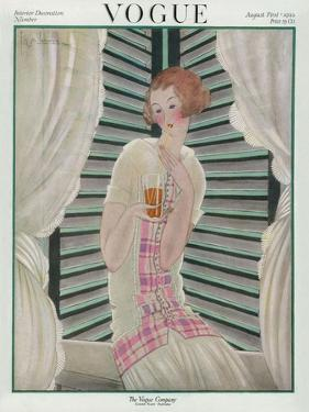 Vogue Cover - August 1922 by Georges Lepape