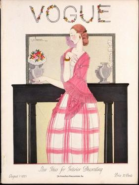 Vogue Cover - August 1923 by Georges Lepape