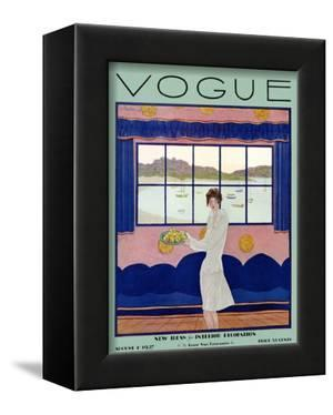 Vogue Cover - August 1927 by Georges Lepape