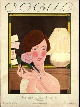 Vogue Cover - December 1924 by Georges Lepape