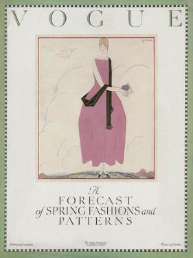 Vogue Cover - February 1920 by Georges Lepape