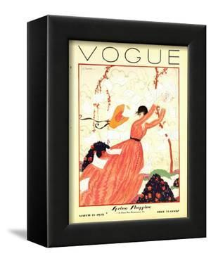 Vogue Cover - February 1928 by Georges Lepape
