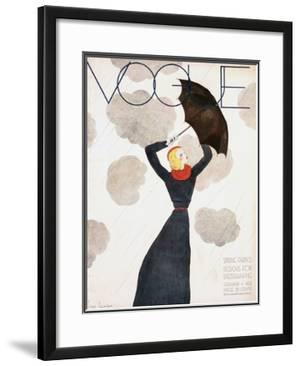 Vogue Cover - February 1933 by Georges Lepape