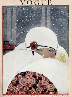 Vogue Cover - January 1919 by Georges Lepape