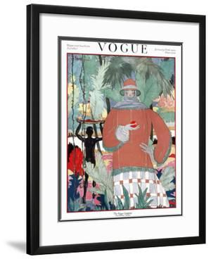 Vogue Cover - January 1920 by Georges Lepape