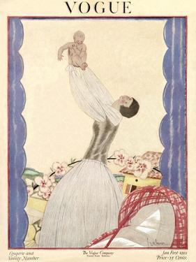 Vogue Cover - January 1922 by Georges Lepape