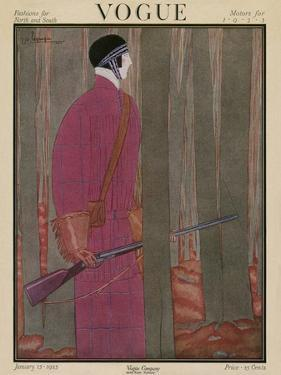 Vogue Cover - January 1923 by Georges Lepape