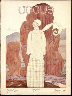 Vogue Cover - January 1924 by Georges Lepape