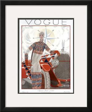 Vogue Cover - January 1925 by Georges Lepape