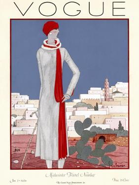 Vogue Cover - January 1926 by Georges Lepape