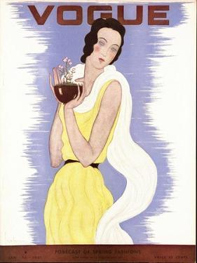 Vogue Cover - January 1931 by Georges Lepape