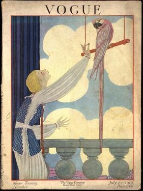 Vogue Cover - July 1919 by Georges Lepape