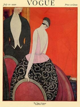 Vogue Cover - July 1920 by Georges Lepape