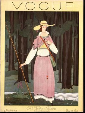 Vogue Cover - July 1924 by Georges Lepape