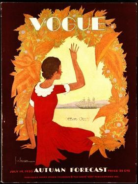 Vogue Cover - July 1930 by Georges Lepape