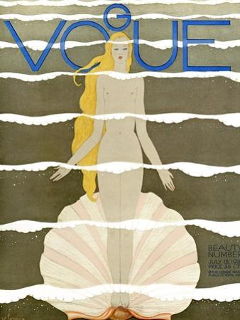Vogue Cover - July 1931 - Venus by Georges Lepape