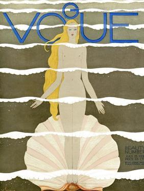 Vogue Cover - July 1931 - Venus by Georges Lepape