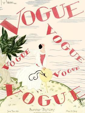 Vogue Cover - June 1924 - En Vogue by Georges Lepape