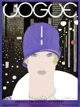 Vogue Cover - March 1927 by Georges Lepape