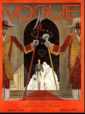 Vogue Cover - March 1929 by Georges Lepape
