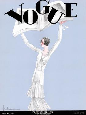 Vogue Cover - March 1930 by Georges Lepape