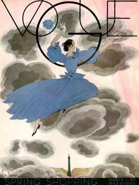 Vogue Cover - March 1933 by Georges Lepape