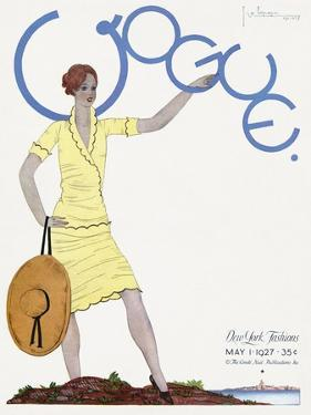 Vogue Cover - May 1927 by Georges Lepape
