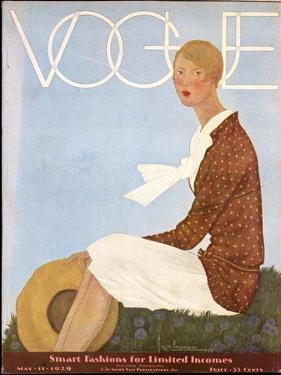 Vogue Cover - May 1929 by Georges Lepape