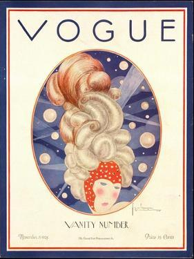Vogue Cover - November 1924 by Georges Lepape
