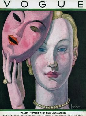 Vogue Cover - November 1930 by Georges Lepape
