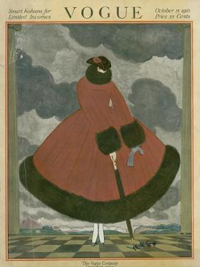 Vogue Cover - October 1917 by Georges Lepape