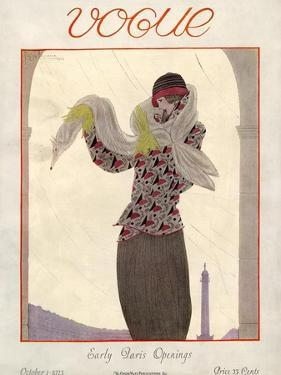Vogue Cover - October 1923 by Georges Lepape