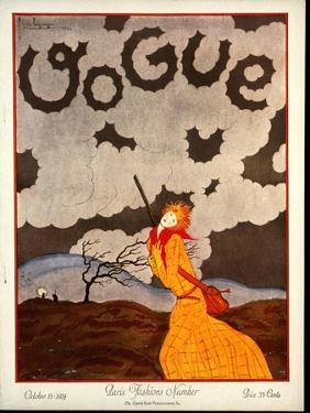 Vogue Cover - October 1924 by Georges Lepape