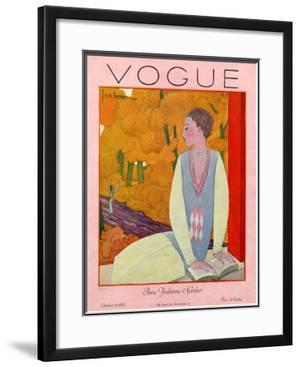 Vogue Cover - October 1925 by Georges Lepape