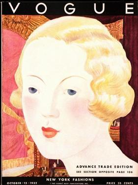 Vogue Cover - October 1932 by Georges Lepape