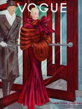 Vogue Cover - October 1933 by Georges Lepape