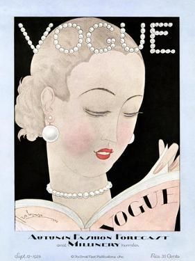 Vogue Cover - September 1926 by Georges Lepape