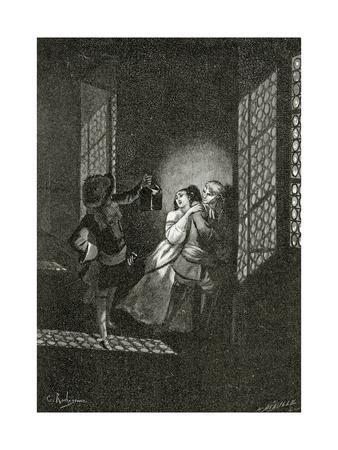 The Lovers Ethel and Ordener are Caught by Lieutenant D'Alpheld - Illustrat