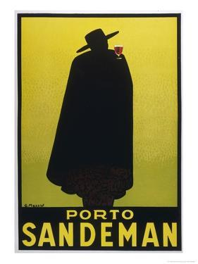 Sandeman Port, The Famous Silhouette by Georges Massiot