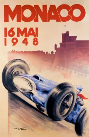Grand Prix de Monaco 1948 by Georges Mattei