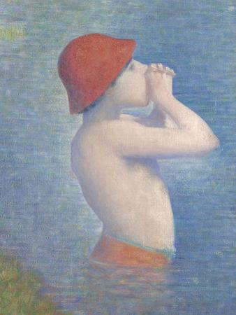 Detail of the Bathers at Asnières, 1884 by Georges Pierre Seurat