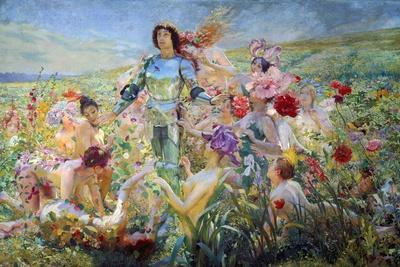 The Knight with the Flower Nymphs