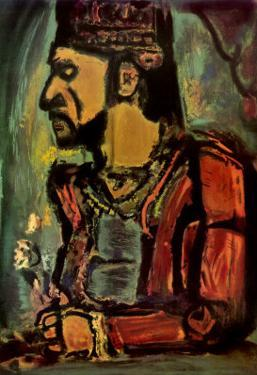Heads of Two Clowns by Georges Rouault