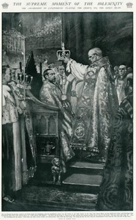 Ceremony of Crowning of King George V's Head