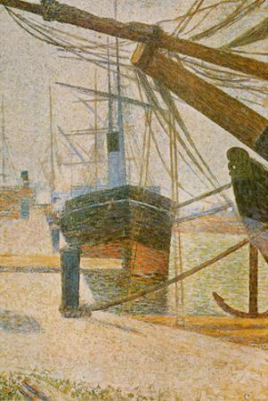 A Corner of the Harbor of Honfleur by Georges Seurat