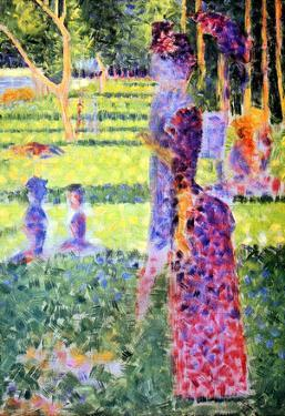 Georges Seurat A Sunday on La Grande Jatte, Study for a Pair Art Print Poster