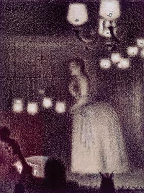 At the Eden Concert, 1886-7 by Georges Seurat
