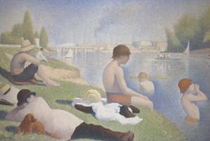 Bathers at Asnieres by Georges Seurat