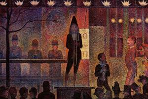 Circus Sideshow, 1888 by Georges Seurat